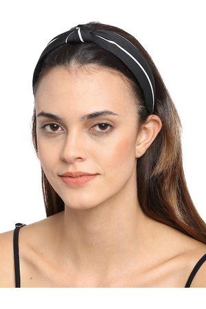 YouBella Black & White Striped Hairband