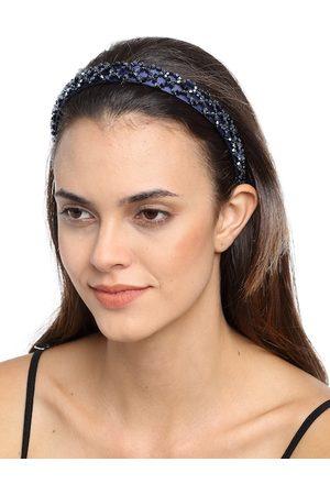 YouBella Navy Blue Embellished Hairband