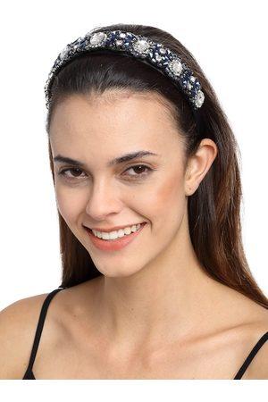 YouBella Blue Crystal Embellished Hairband