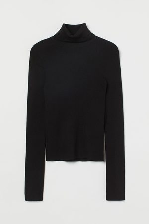 H & M Women Jumpers - Rib-knit polo-neck jumper