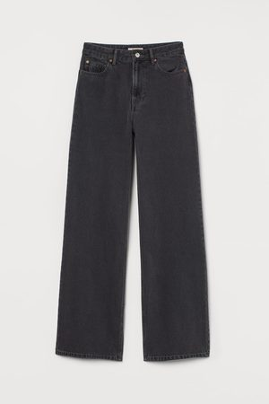 H & M Wide High Jeans - Grey