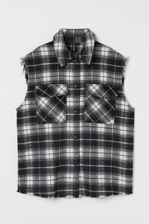 H & M Checked sleeveless shirt