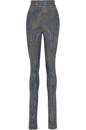 Dolce & Gabbana High-waisted metallic leggings