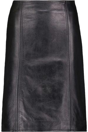 Stand Studio Maci leather midi skirt