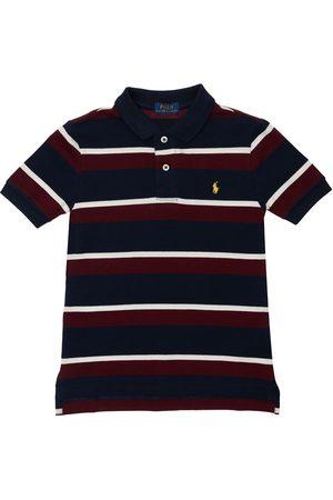 Ralph Lauren Boys Polo Shirts - Striped Cotton Pique Polo Shirt