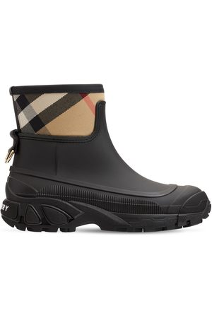 Burberry Women Ankle Boots - 20mm Ryan Leather & Check Ankle Boots