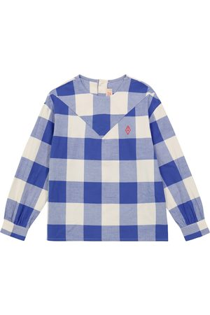 The Animals Observatory Marmot checked cotton blouse