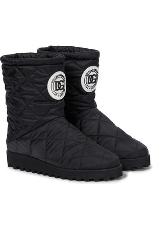 Dolce & Gabbana Kids Girls Snow Boots - Quilted nylon snow boots