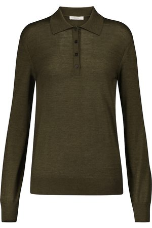 The Row Women Polo Shirts - Darese cashmere and silk polo sweater