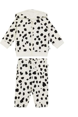 STELLA McCARTNEY Kids Rainwear - Dalmatian fleece tracksuit