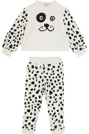 STELLA McCARTNEY Kids Dalmatian fleece tracksuit