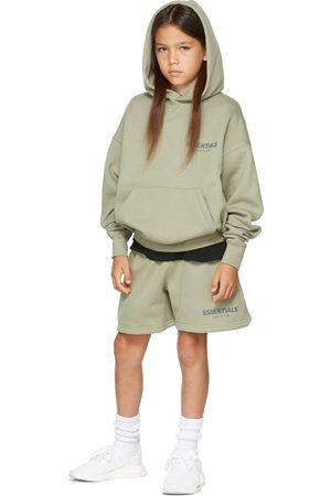 Essentials Kids Green Fleece Shorts