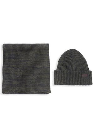 Barbour Crimdon Beanie Hat & Scarf Set