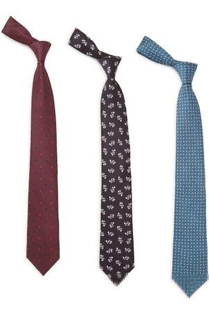 Tossido Men Pack of 3 Woven Design Broad Tie