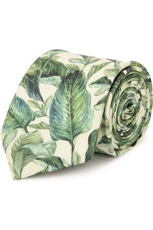Tossido Men Green Tropical Printed Broad Tie