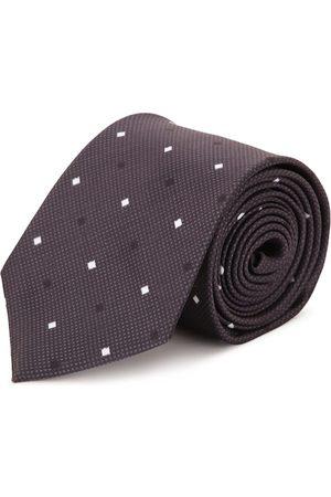 Tossido Men Neckties - Men Brown & White Woven Design Broad Tie