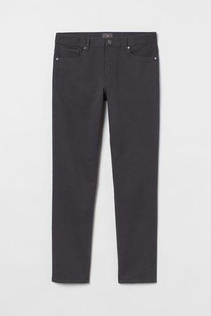 H&M Twill trousers Slim Fit - Grey