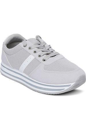 Forever Glam by Pantaloons Women Grey Mesh Walking Shoes