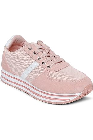 Forever Glam by Pantaloons Women Peach-Coloured Mesh Walking Shoes