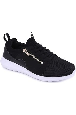 Forever Glam by Pantaloons Women Black Textile Walking Shoes