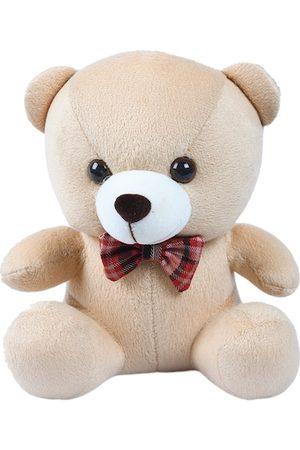 DukieKooky Kids Beige & White Teddy Bear With Bow Tie Soft Toy