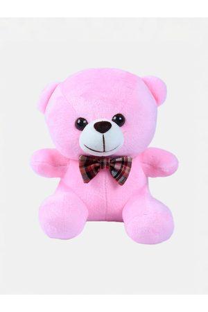 DukieKooky Kids Pink & White Teddy Bear With Bow Tie