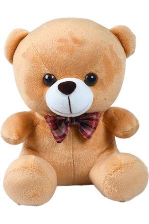 DukieKooky Kids Brown & Pink Teddy Bear With Bow Tie Soft Toy