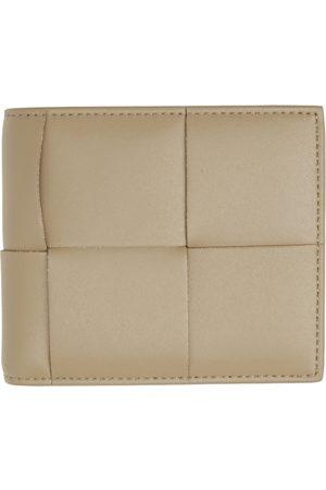 Bottega Veneta Taupe Intrecciato Bifold Wallet