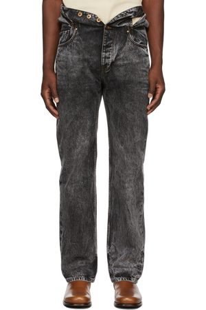 Y / PROJECT Acid Wash Knotted Waist Jeans