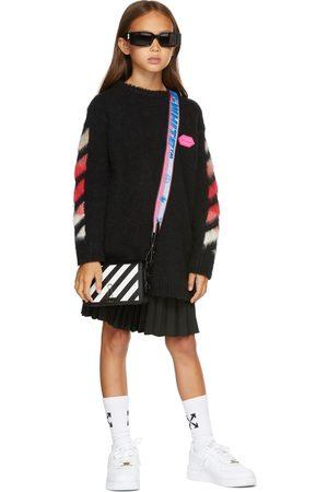 OFF-WHITE Girls Knitted Dresses - Kids Brushed Knit Logo Dress