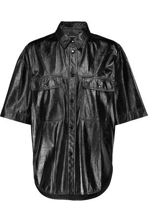 Isabel Marant Women Short Sleeve - Gilina faux leather shirt