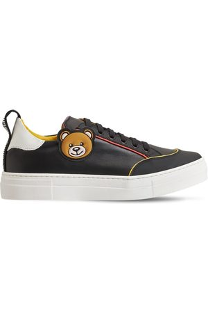 MOSCHINO Teddy Bear Lace-up Leather Sneakers