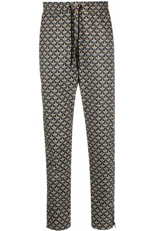 Paco rabanne Trousers - Pattern-print tapered trousers