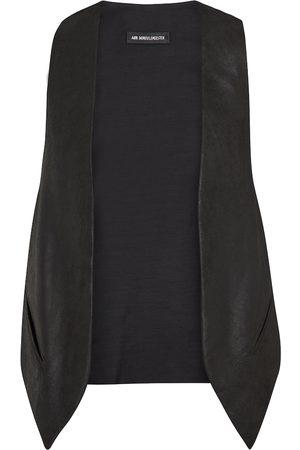 Ann Demeulemeester Julie leather-paneled gilet