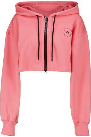 adidas by STELLA McCARTNEY Cropped organic cotton hoodie