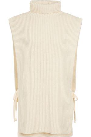 ANN DEMEULEMEESTER Britt wool and cashmere-blend vest