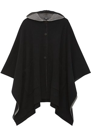 THEORY Wool-Blend Hooded Poncho