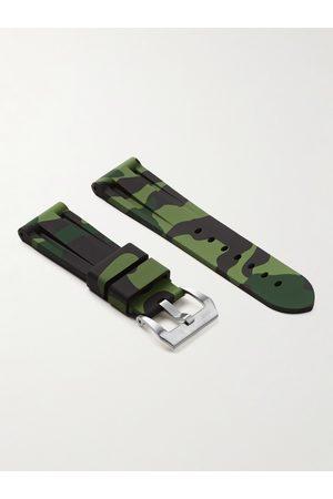 HORUS WATCH STRAPS 24mm Camouflage-Print Rubber Watch Strap