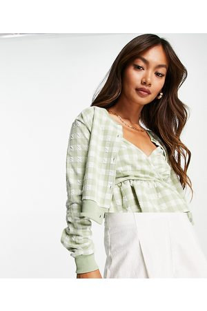 River Island Women Sets - Gingham check cami and cardigan set in