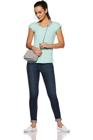 Fruit Of The Loom Unwind Solid Round Neck Tee Beach Glass