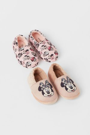 H & M 2-pack soft slippers