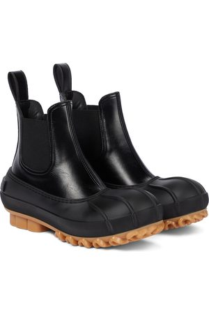 STELLA McCARTNEY Faux leather and rubber Chelsea boots