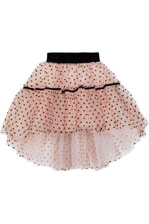 Monnalisa Polka dotted tulle skirt