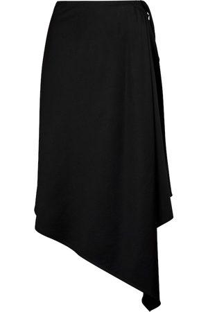 ANN DEMEULEMEESTER Women Midi Skirts - Fenna virgin wool gabardine midi skirt