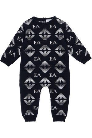 Emporio Armani Boys Bodysuits & All-In-Ones - Wool, Silk & Cashmere Knit Romper