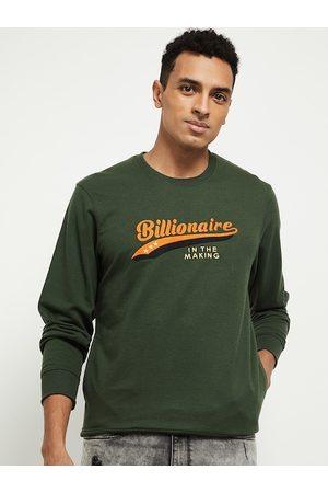 max Men Green Printed Sweatshirt