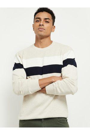 Max Collection Men Sweatshirts - Men Yellow Striped Sweatshirt