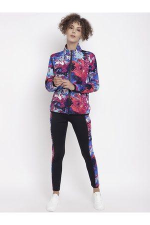 CHKOKKO Women Pink & Black Track Suit