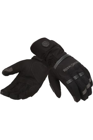 Royal Enfield Men Gloves - Men Black & Grey Blizzard Leather Riding Gloves