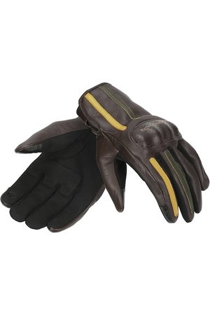 Royal Enfield Men Brown & Olive Green Gritty Leather Riding Gloves